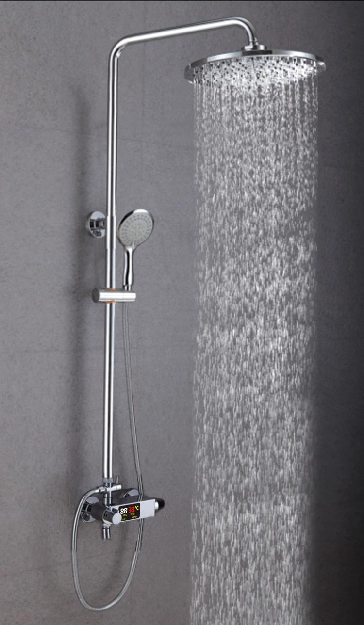 Intelligent thermostatic digital shower faucet XS-M9101-B