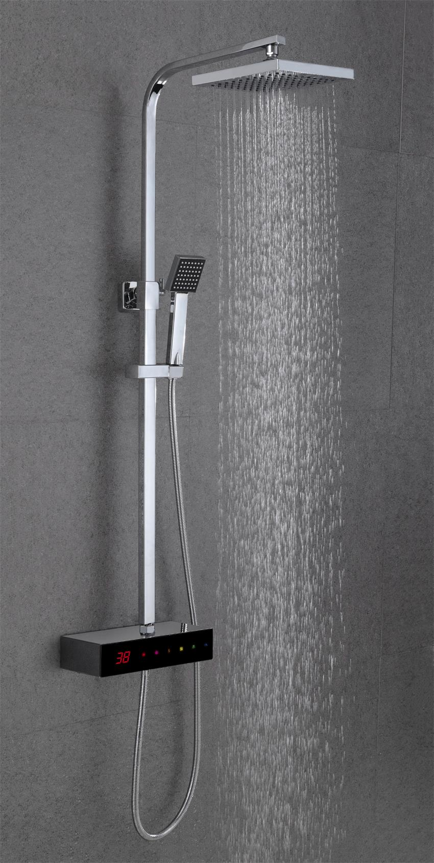 Full-touch screen digital thermostatic shower faucet XS-M9205